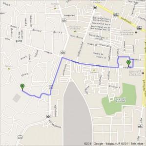 แผนที่ไปวัดอุโมงค์ จาก Google Maps